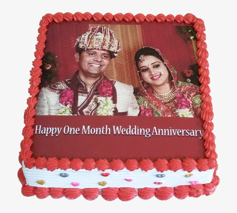 Photo Cake Happy First Month Anniversary Marriage Png Image