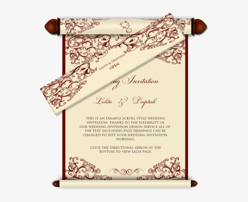 Email Wedding Card Royal Scroll Design 29 Luxury Indian
