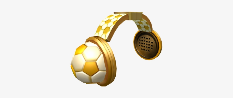 Golden Soccer Headphones Golden Soccer Headphones Roblox Png