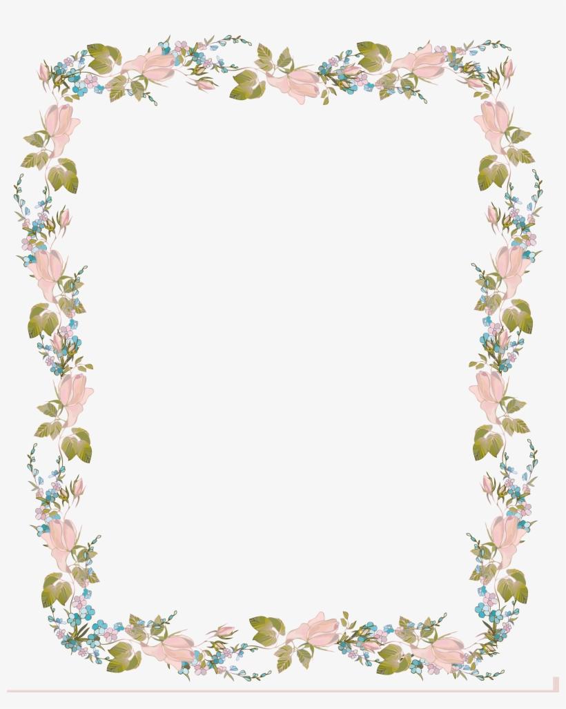 Invitation Clip Art Flowers Baby Shower Border Design Png Image