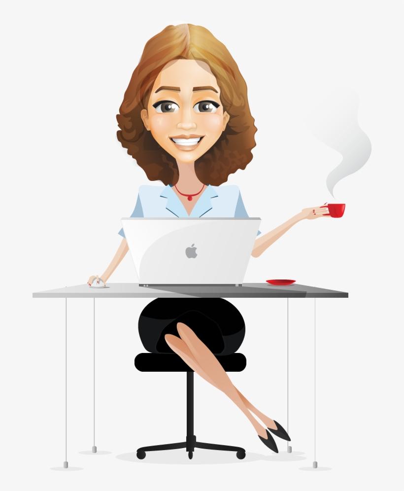 Business Woman Cartoon Clipart