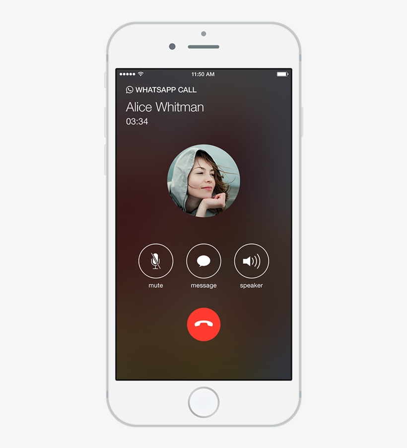 Whatsapp Calling Iphone Whatsapp Call Screen Png Image Transparent Png Free Download On Seekpng