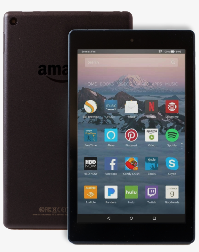 Amazon Kindle Fire Hd 8 8 16gb Wi Fi Tablet Black Amazon Fire Hd 8 8 Tablet 16gb 7th Generation Png Image Transparent Png Free Download On Seekpng