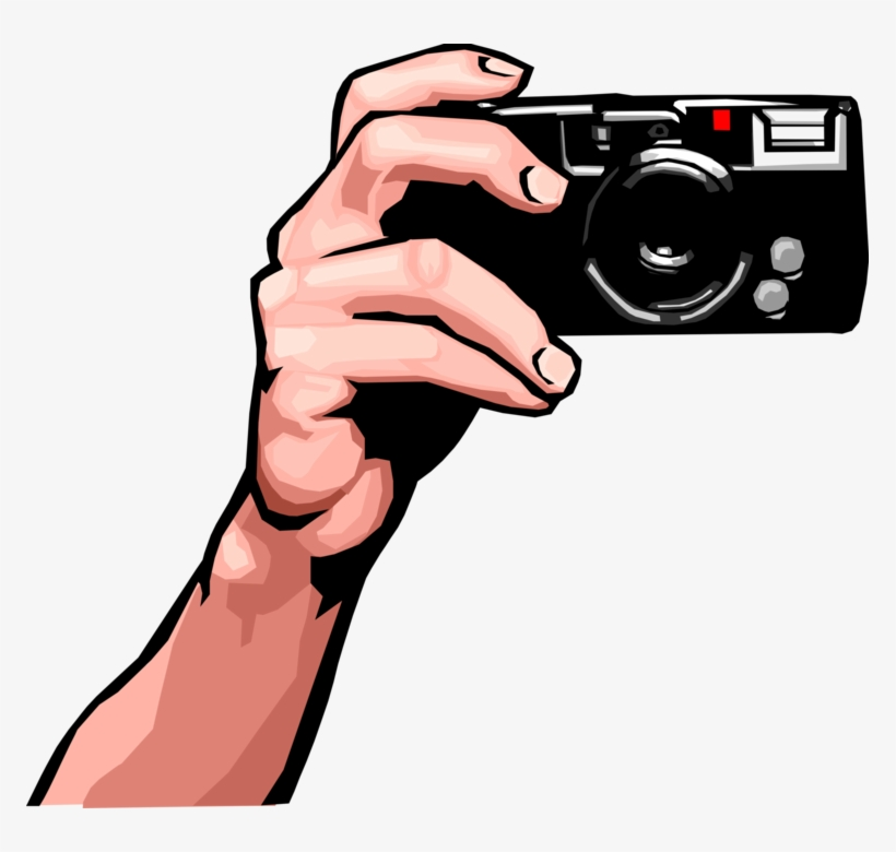 Photography Camera Vector Png Hand Holding A Camera Clip Art Png Image Transparent Png Free Download On Seekpng