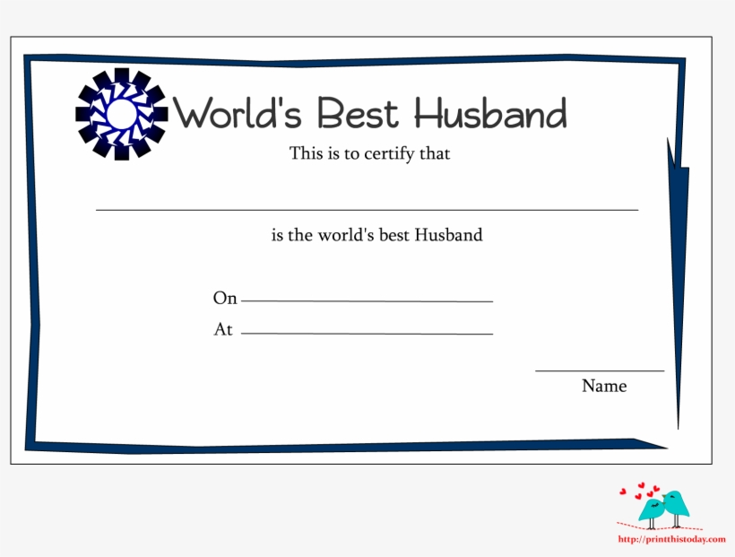 Certificate Template Clipart Anniversary Award Best Husband