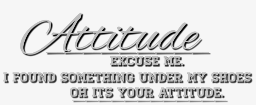 Attitude Text Png - Png Text Effects For Picsart PNG Image