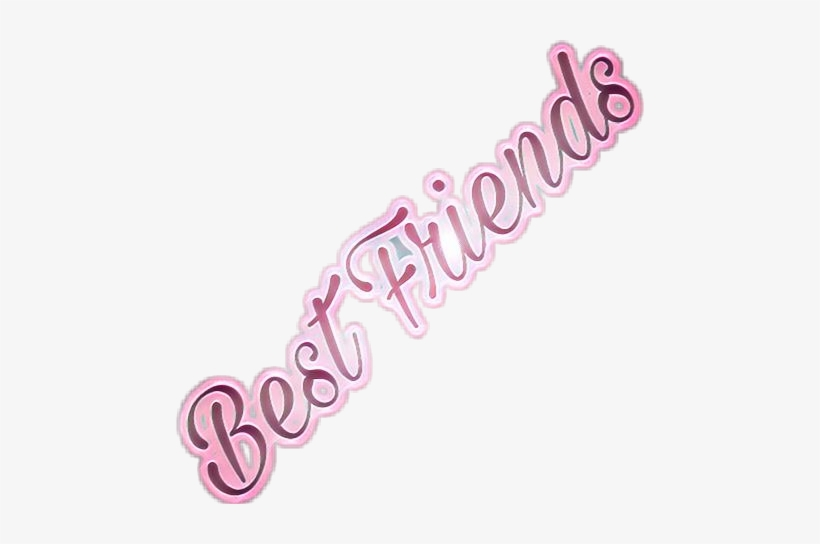 Best Friend Friends Bestfriends Pretty Cute Best Friend S Picsart Logo Png Image Transparent Png Free Download On Seekpng