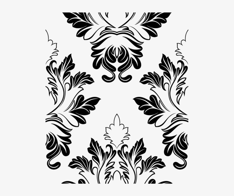 Vector Black And White Download Flower Border Clipart - Blank Wedding  Invitation Templates Black And White , Free Transparent Clipart - ClipartKey