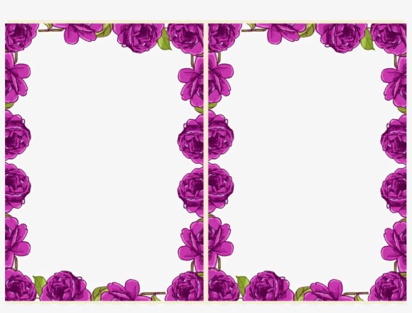 Violet Floral Border Transparent Background Png - Page