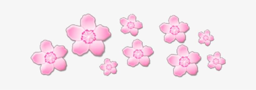 Pink Pinkflowers Flowers Crown Cute Sticker Tumblr Pink Flower