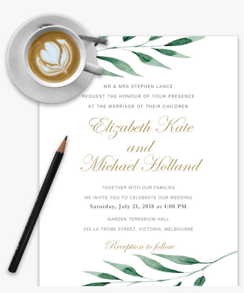 Example Of Wedding Invitation Template In Word With Wedding Invitation Templates Png Image Transparent Png Free Download On Seekpng