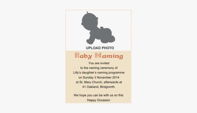 Naming Ceremony Invitation Namkaran Cards Online In Baby