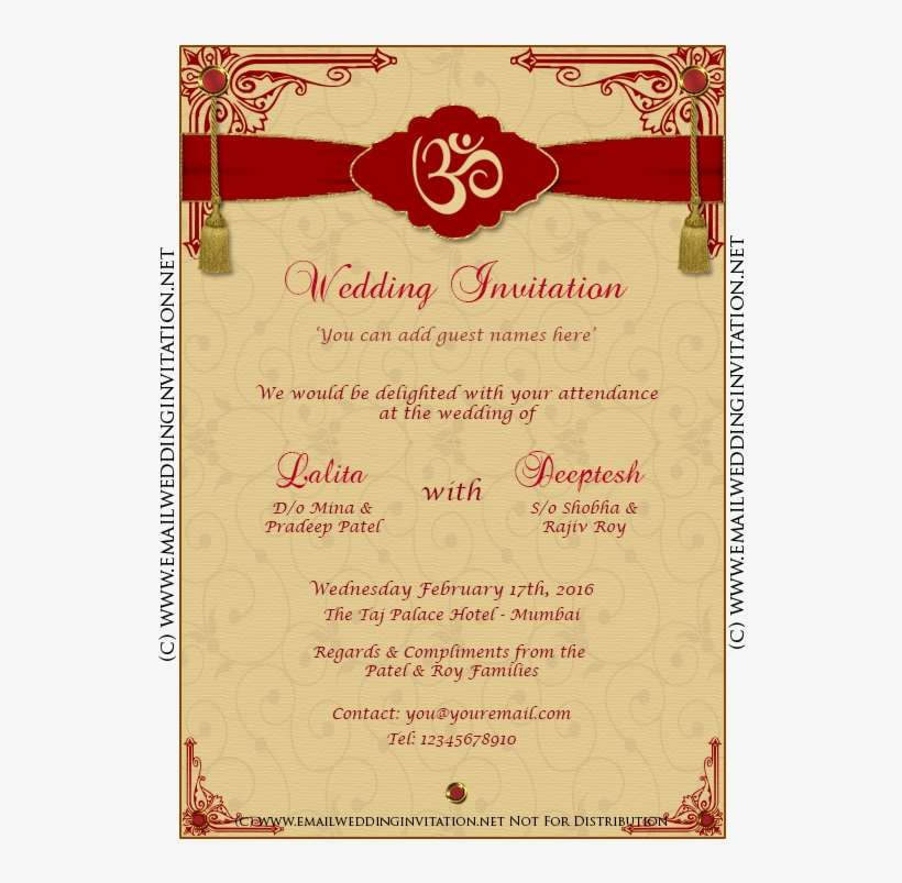 Indian Wedding Invitation Card Template Editing Inspirational Wedding Card Edit Online Png Image Transparent Png Free Download On Seekpng