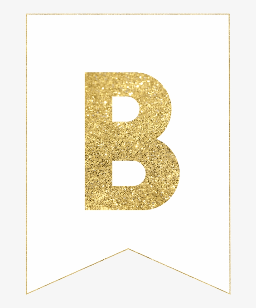 photograph relating to Free Printable Happy Birthday Banner named Gold No cost Printable Banner Letters - Satisfied Birthday Banner