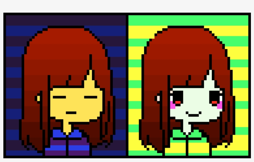 Frisk And Chara Pixel Art