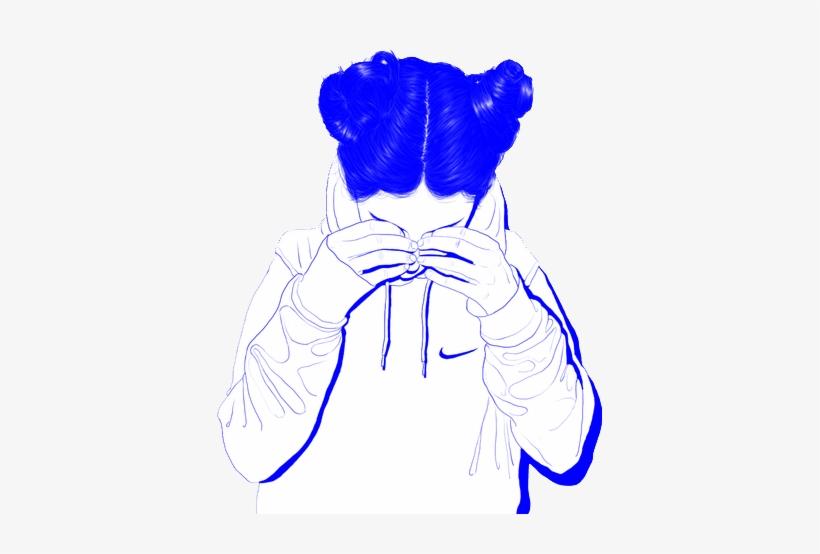 Tumblr Girl Aesthetic Blue Sad Vaporwave Cute Whit Aesthetic Girl
