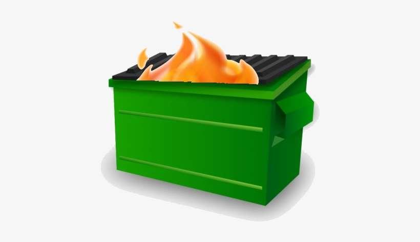 Grimes On Twitter - Dumpster Fire Emoji Slack PNG Image