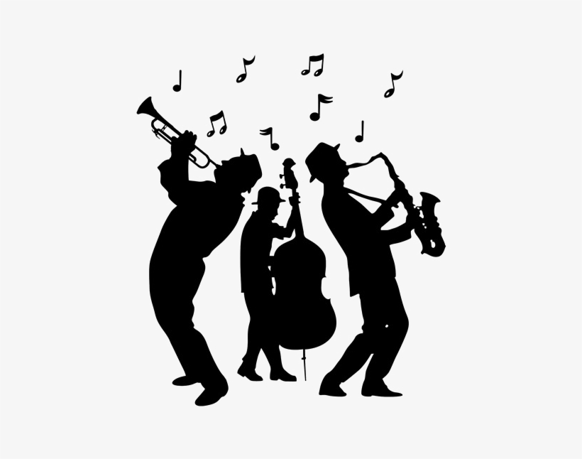 Jazz Clipart Transparent Background - Jazz Band Silhouette Png PNG Image | Transparent ...