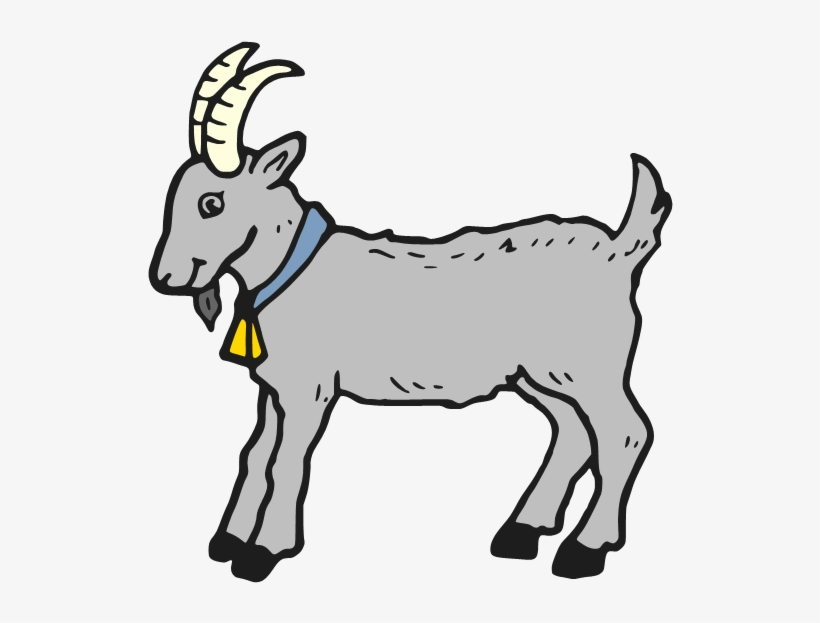 Goat And Kid Clipart - Clip Art Black And White Goat PNG ...