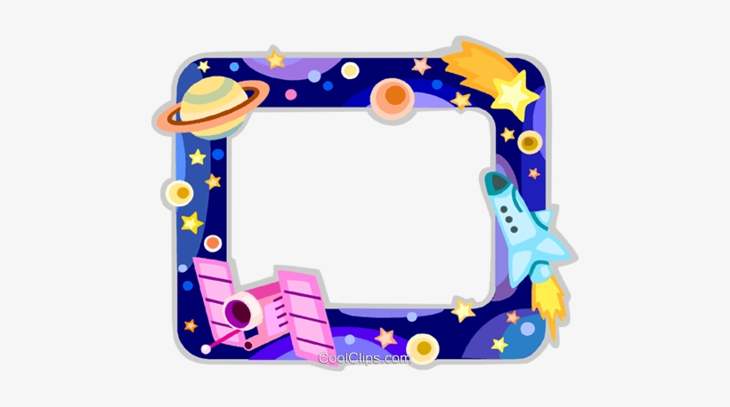 Outer Space Frame Royalty Free Vector Clip Art