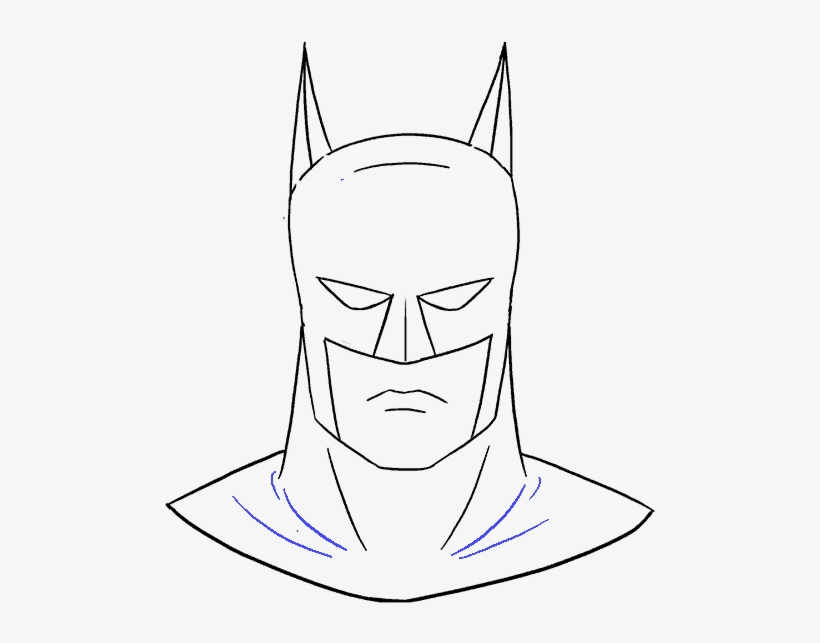 How To Draw Batman S Face Draw Batman Head Png Image Transparent