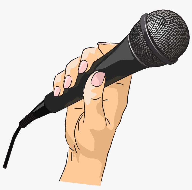 Vector Black Microphone Element Dibujos De Un Microfono
