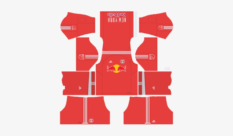 huge discount ef7a3 04ffe New York Red Bulls - Dream League Soccer Kit 2018 PNG Image ...