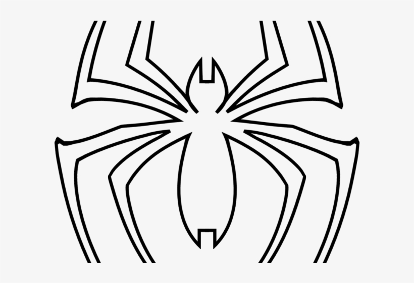 Spider man Logo Cliparts   Araña De Spiderman Para Colorear PNG