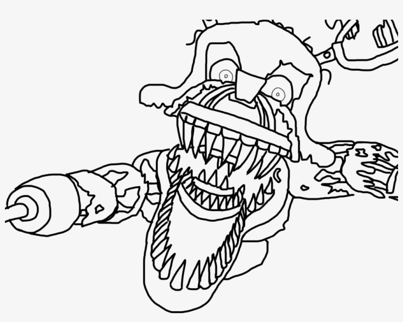 foxys family images fnaf coloring pages | Nightmare Foxy Base By Howlinghill On Deviantart - Fnaf ...