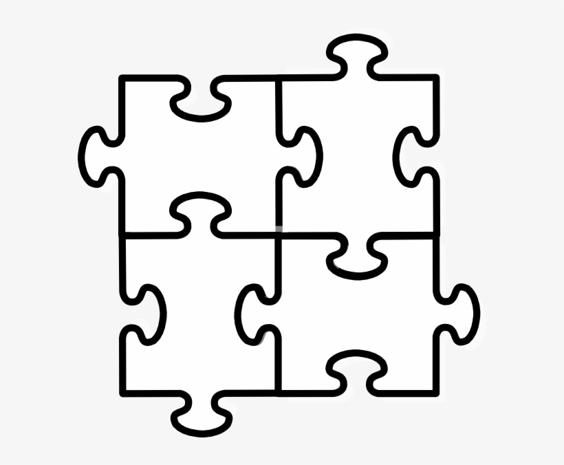 Jigsaw Puzzle Clip Art At Clker Four Puzzle Pieces Png Png Image