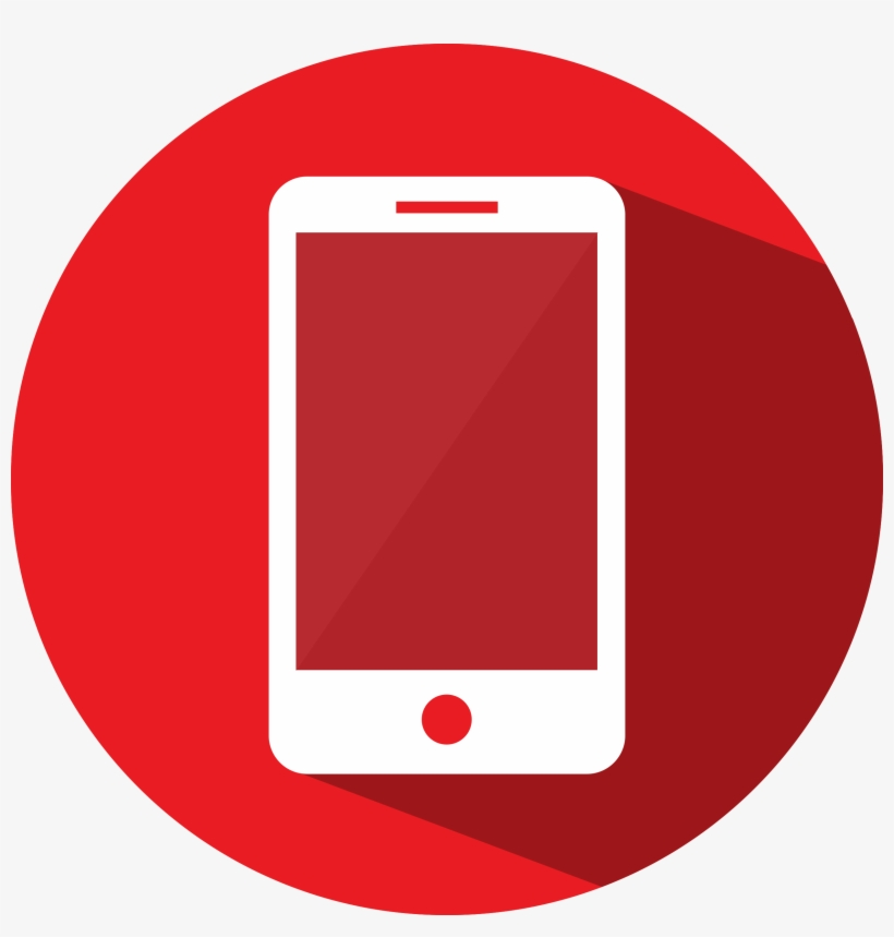 Mobile - Mobile Phone Icon Red Png@seekpng.com
