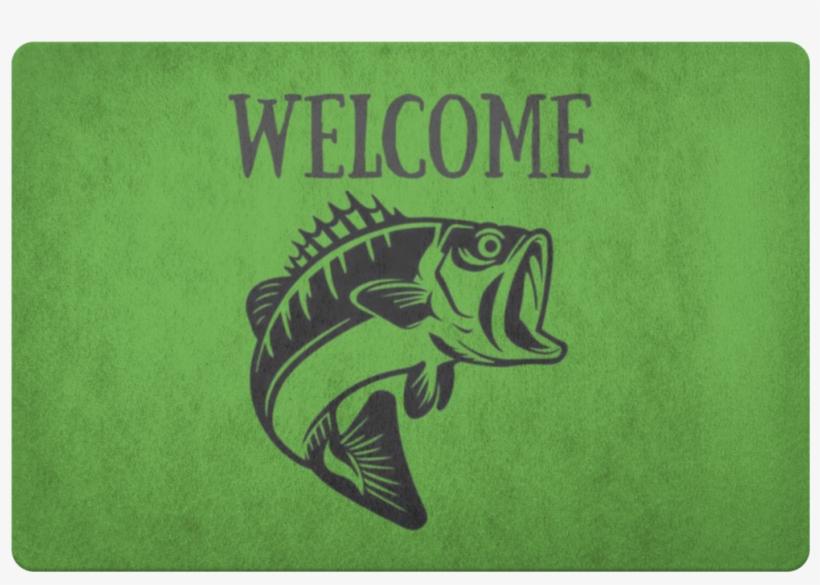 Download Largemout Bass Welcome Door Mat Green Free Bass Fish Svg Png Image Transparent Png Free Download On Seekpng