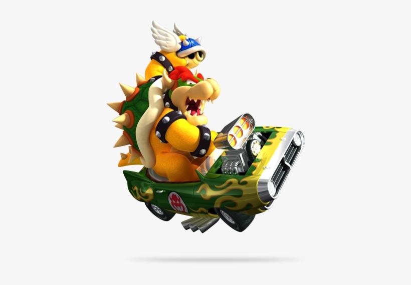 Hot Rod Bowser - Mario Kart Wii Kart PNG Image   Transparent
