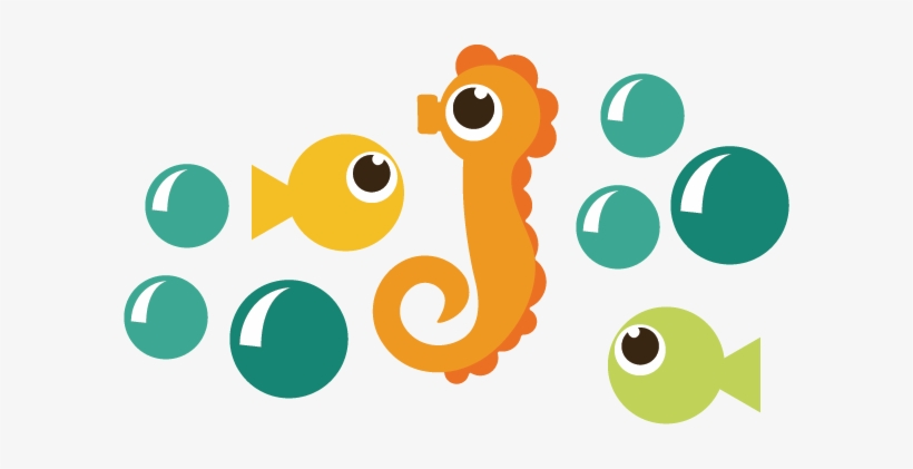 Download Seahorse And Fish Svg Files Ocean Svg Files For Scrapbooking Cute Seahorse Png Png Image Transparent Png Free Download On Seekpng