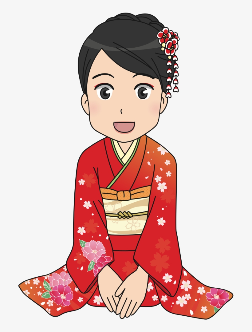 Girl In Kimono 正月 着物 女性 イラスト Png Image Transparent Png