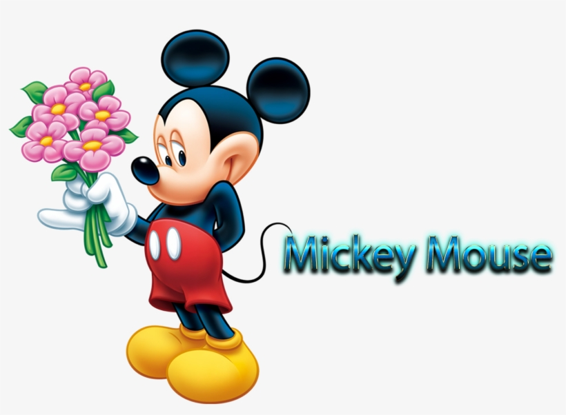 Mickey Mouse Free Pictures Mickey Mouse Flower Png Image
