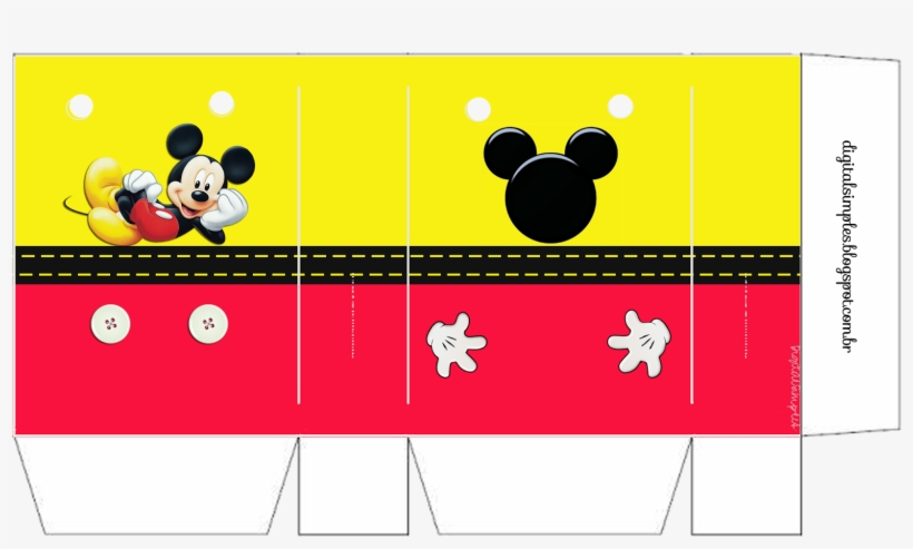 Sacola De Papel 300 Mickey Mouse Personalizados Mickey Para