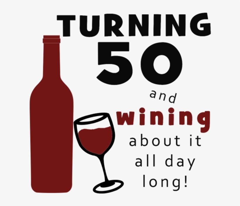 50th Birthday Wine Funny