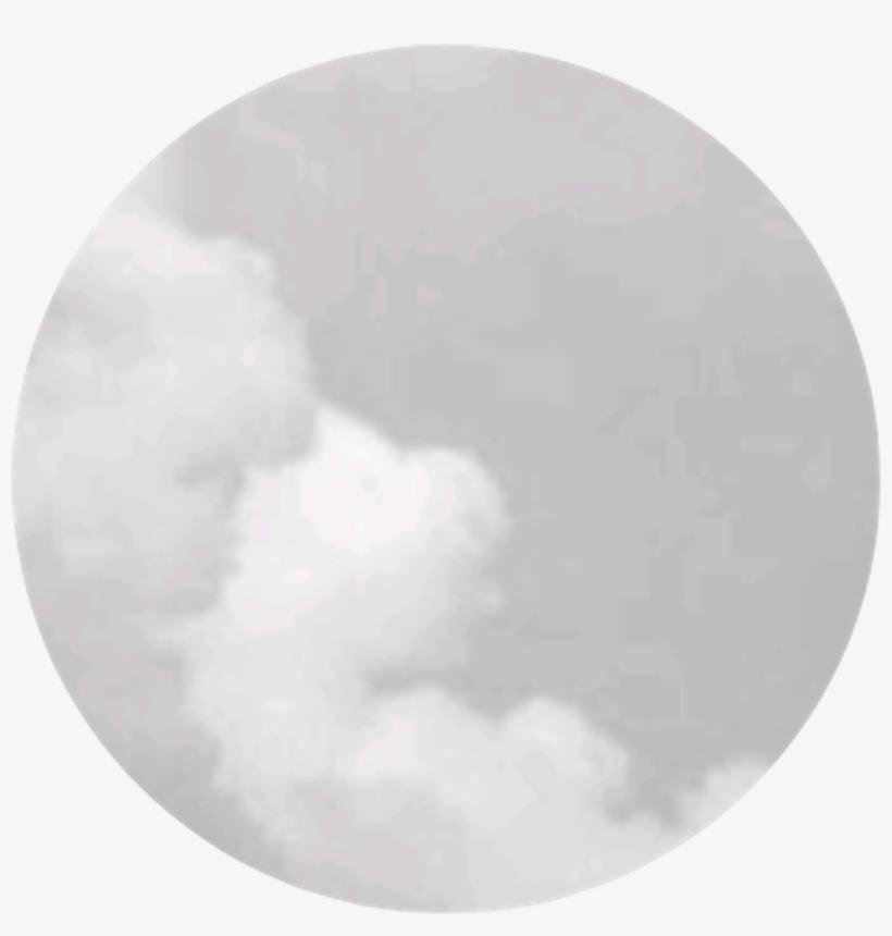 Cloud Smoke White Grey Puff Circle