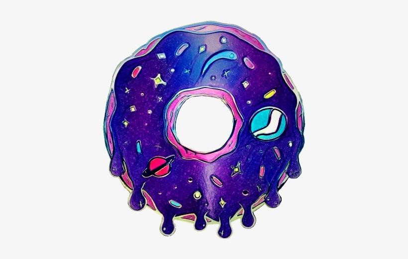 Donut galaxy. Planets dessert sticker freetoedit