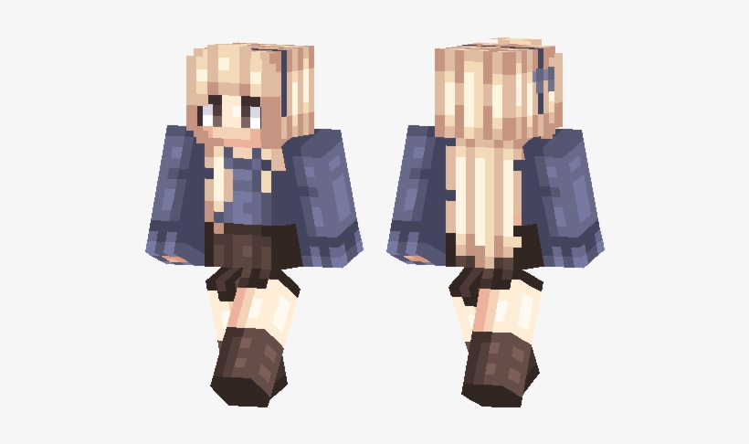 Blonde Girl - People - Minecraft Girl Skin With Sweater PNG