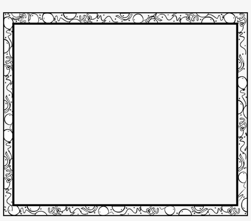 15 Frames And Borders Black White Png For Free On - Border
