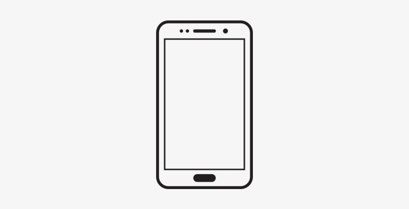 Samsung Galaxy Clipart White Cell Cell Phone Black And White Png Image Transparent Png Free Download On Seekpng