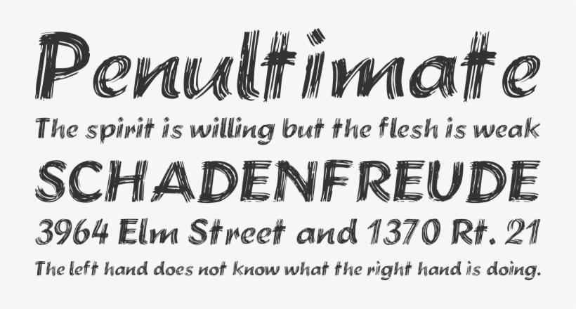 Brushstroke Plain Font Phrases - Lobster Font PNG Image