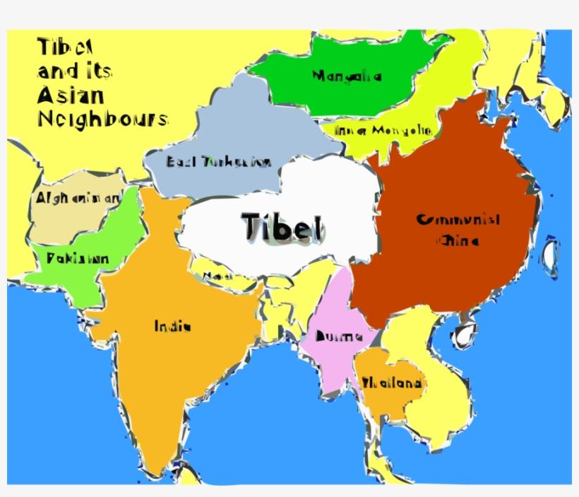 Download Tibet Map Clipart Tibet World Political Map World Map