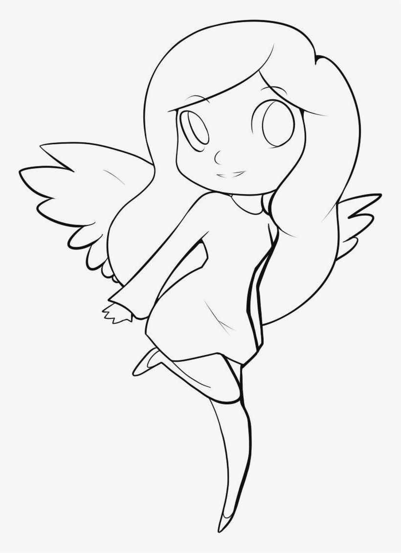 Vector transparent library angles drawing anime easy angel drawing