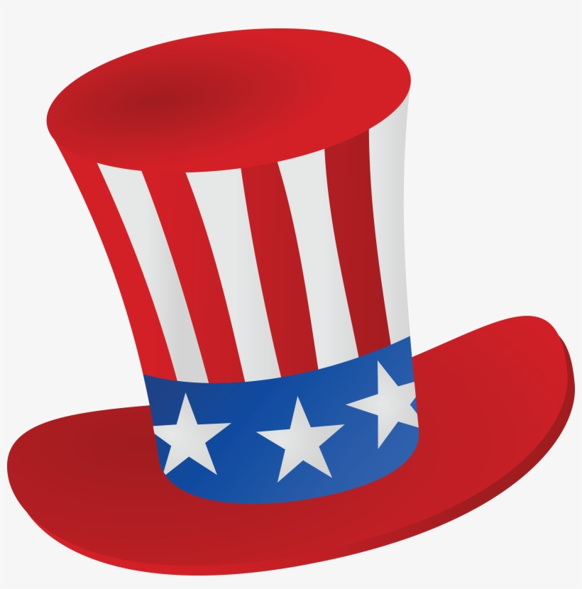 Free Clipart Of A Patriotic American Top Hat Transparent
