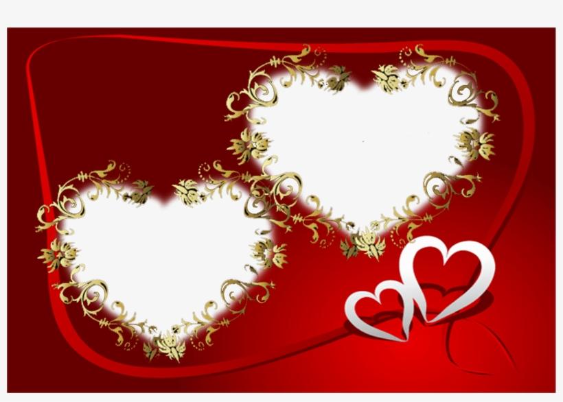 Открытка на день святого валентина фотошоп