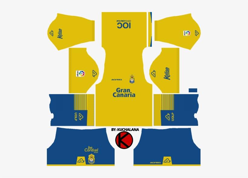 Ud Las Palmas 2017/18 - Kit Dream League Soccer 2018 PNG