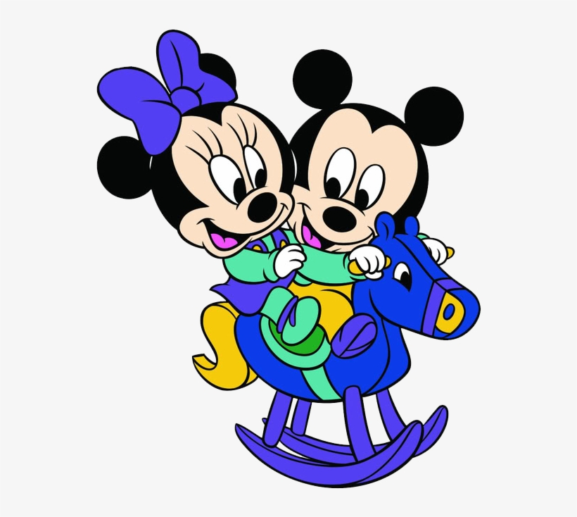 Baby Mickey Minnie Rocking Horse Mickey E Minnie Baby Png Image
